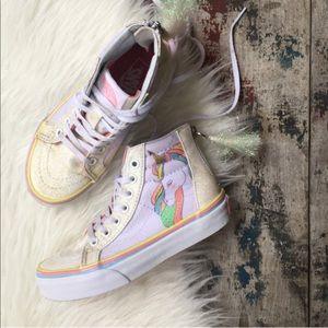 b813240549845 Vans Shoes - VANS sk8-hi unicorn 🦄 shoes sz 12 kids